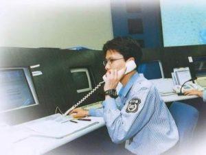警備会社勤務時代の通信指令センター勤務時の様子